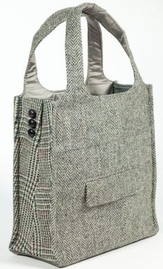 power suit tote. could make from thrift store clothing!
