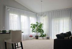 Wall mounted curtain tracks
