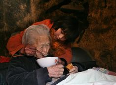 The little girl in this photo, Li Pan, lives with her 96-year-old great grandma in Hebei Province, China. When she was very young her dad passed away, and then her mom left her and married someone else. Since then, she has been taking care of the family including her great grandma, who's been bedridden for many years. This strong girl has brought love, hope, and happiness to her family, and inspired this award-winning photograph. http://www.visiontimes.com/2016/01/27/hea