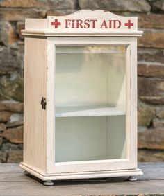 Another great find on #zulily! Vintage-Inspired First Aid Cabinet #zulilyfinds