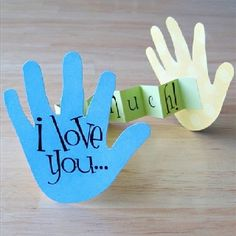 """Father's day craft. Cutest """"hand""""made card ever!"""