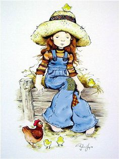 Risultati immagini per figuras de sarah kay Holly Hobbie, Painting For Kids, Art For Kids, Children Painting, Mary May, Heart Illustration, Cute Art, Paper Dolls, Childhood