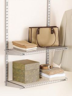 The Rubbermaid Configurations® 4u0027 Stacking Space Add On Is An Easy To.  Closet ShelvesCloset SystemStorage ...