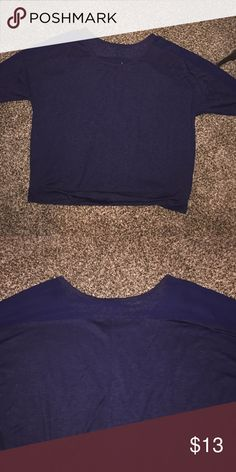Size 22/24 Lane Bryant Top Perfect condition. Worn once. Sheer material across upper back and arms. Extremely cute. Made to fit loosely. Size 22/24. 3/4 length sleeves. Lane Bryant Tops Tees - Long Sleeve