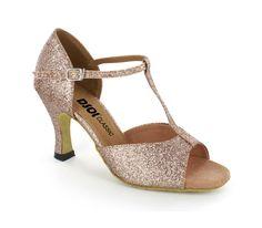 Zapatos de baile de mujeres Zapatos de salón de purpurina Zapatos de baile latino con pedrería peep toe XDU0Usv