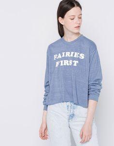 Sweatshirt mensagem - Teen Girls Collection - Mulher - PULL&BEAR Portugal