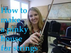 How to make a pinky house for beginning violin and viola students with Caroline Nordlund via scrollworks.org