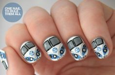 If theres one nail to rule them all, for me, this is it!! Similarly to the converse nails this campervan nail art caters to a specialist group... retro fans, those who want to travel and more so those who appreciate the beauty of the VW. Nails for all year round, to bring a bit of retro transport into your day!