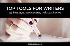 Top tools for creative writers.