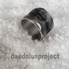 anello uomo.stile industriale.ring band man.anello handmade.male ring.silvered di daedalusproject su Etsy