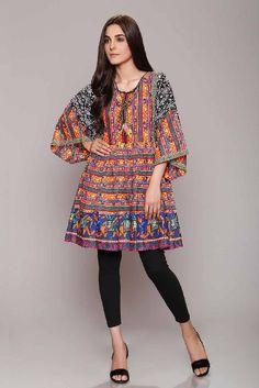 Latest Summer Short Frock Fashion for Girls - Mode Für Alle Pakistani Fashion Party Wear, Pakistani Dresses Casual, Pakistani Dress Design, Casual Dresses, Pakistani Dresses Online, Kurta Designs, Kurti Designs Party Wear, Stylish Dresses For Girls, Stylish Dress Designs