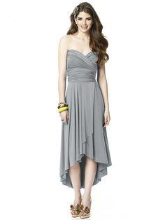Monument hi-lo #twist #dress #bridesmaiddress #gray