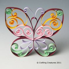 Butterfly: multiple colors by Crafting Creatures, via Flickr