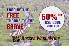 Hope everyone had a great #MemorialDay weekend! Last day to avail of our  50% #sale   Shop @ http://www.bossesworld.com