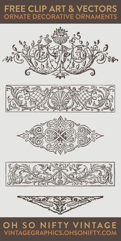 vector art, free vectors, vector images, ornaments vector, vector ornaments…