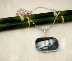 N17  Photo Pendant Necklace Framed in by DelaneyPhotoJewelry, $136.00