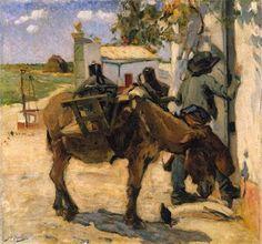 AGUADEIRO (Alentejo - Século XIX-XX). José Malhoa (1855-1933). Óleo sobre tela (44,5 x 41,3 cm). Museu Nacional de Soares dos Reis, Porto.