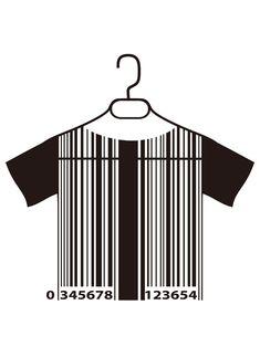 Hanging t-shirt barcode.