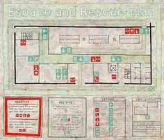 Simon Evans: Escape and Rescue Plan. I especially like the color scheme + hand-rendered Helvetica-ish type.