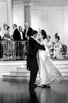 Audrey Hepburn as Eliza, dances with the Prince, 1963