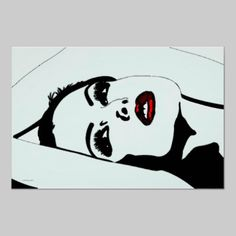 Waiting For A Kiss Retro Goth Print @GothicBusiness on Zazzle