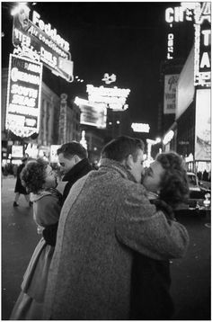 Times Square on NY Eve - 1959 - photo by Henri Cartier Bress