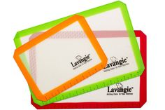 Silicone Baking Mat Set - Professional Heat-Resistant Non Stick Mats and Liners for Cookie Sheets by Lavangie™ (3 color pack) -- Read more at the image link.