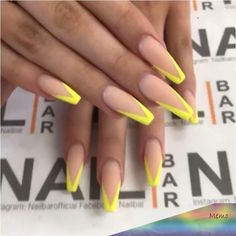 71 Neon Nail Designs That Are Perfect for Summer Neon Nail Art, Neon Nails, Yellow Nails, Pink Nails, Aycrlic Nails, Cute Nails, Neon Nail Designs, Crazy Nails, Nagel Gel