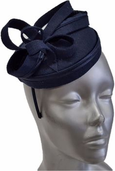Swan Hat, Derby, Preakness, Church, Dress, Wedding- Ladies Navy  Felt Fascinator #Swan #Fascinator #ChurchDressEverydayKentuckyDerby Fascinator Hats, Fascinators, Mother Of The Bride Hats, Whatsoever Things Are Lovely, Church Dresses, Royal Fashion, Swan, Derby, Hair Accessories