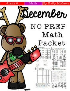 This December Math NO PREP packet that will keep your sixth graders engaged! This packet is just plain fun. Not only is it PACKED with sixth-grade common core math problems, it also gives students fun coloring, puzzles, and problem solving. Use this packet for bellwork, classwork, extra credit, fast finishers, or homework!