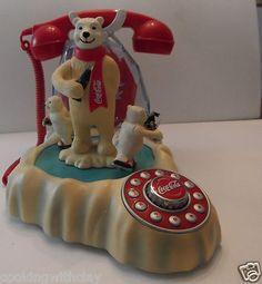 Coca Cola Polar Bear Animated Vintage Phone