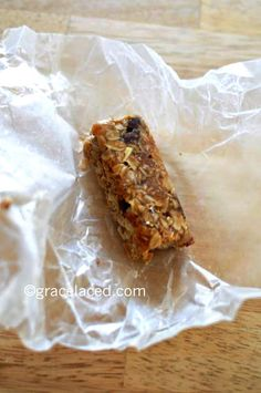 Homemade granola bars with coconut oil, flax meal, and wheat bran...amazingly delish!
