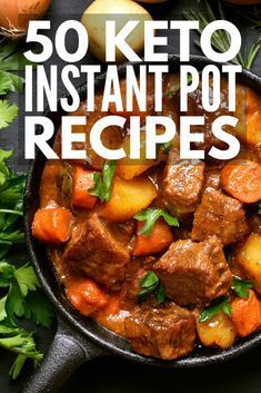 Looking low carb, high fat keto diet recipes you can make in your instant pot? We've curated 50 keto instant pot recipes for weight loss that will leave you drooling. Who says the ketogenic diet can't be easy and delicious? Keto Crockpot Recipes, Ketogenic Recipes, Slow Cooker Recipes, Low Carb Recipes, Diet Recipes, Cooking Recipes, Healthy Recipes, Diet Meals, Ketogenic Diet