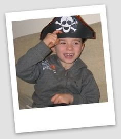 A simple pirate hat craft project for kids