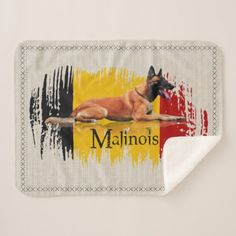 Pre- Order  Pre-order today! Your design will be made and shipped as soon as our manufacturers are ready to begin production.  Belgian Malinois - Belgian shepherd -Maligator Sherpa Blanket  $43.13  by K9PrintArt  - cyo diy customize personalize unique
