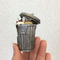 """2,251 Likes, 22 Comments - The Daily Miniature (@dailymini) on Instagram: """"trash can at @igmaguildschool."""""""