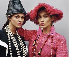 Vittoria Ceretti and Bella Hadid for Self Service Magazine
