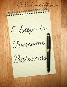 8 STEPS TO OVERCOME BITTERNESS: This 1-minute devotion offer advice for those struggling with un-forgiveness.