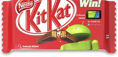 Here is the Android KitKat. Android 4.4, Latest Android, Android Auto, Nexus Tablet, Chocolate Treats, Operating System, Jelly Beans, Confectionery, Honeycomb