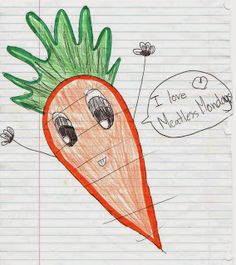 We love this! #MeatlessMonday drawing by Stella, age 10.