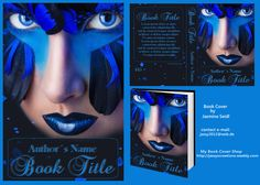 Premade Book Cover 445 - Blue Eyes with Info by Jassy2012.deviantart.com on @DeviantArt Premade Book Covers, Blue Eyes, My Books, Halloween Face Makeup, Author, Movie Posters, Libros, Art, Film Poster