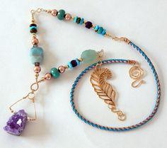 Turquoise Statement Necklace Turquoise Boho by BeadIndulgences