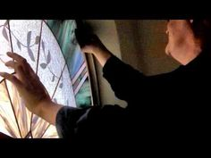 Installing A Stained Glass Panel in an Arched Window - YouTube