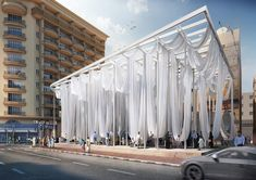 dk proposes 'dubai smiles', a pavilion with huge hammocks / cursosphotoshop. Architecture Design, Chinese Architecture, Landscape Architecture, Landscape Design, Pavilion Architecture, Architecture Office, Futuristic Architecture, Urban Landscape, Bungalow