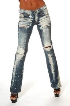 Destroyed brand jeans as seen on Britney Spears