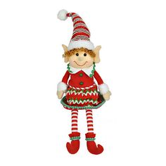 Jolly Elf Girl Shelf Sitter | Kirklands