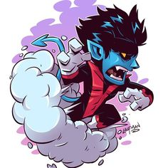 "6,097 Me gusta, 20 comentarios - Derek Laufman (@dereklaufman) en Instagram: ""Chibi Nightcrawler! Prints available at www.dereklaufman.com (link in my profile) Store wide sale…"""