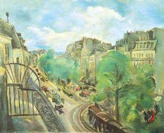 Hermine David 1886-1971 (French) Boulevard des Batignolles oil on canvas 60 x 73 cm (23 x 28 in.)