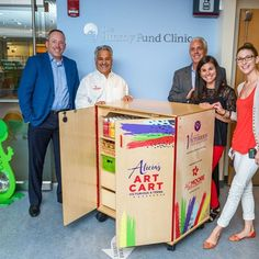 Thanks to the Alicia Rose Victorious Foundation, our young patients in the Jimmy Fund Clinic will get to enjoy a brand new art cart stocked with A.C. Moore products. 🎨
