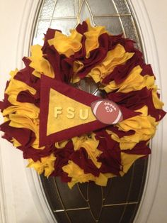Football Wreaths by HanginFootball on Etsy, $30.00